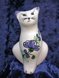 Chat de collection faience