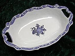 Corbeille à pain décor au chardon bleu