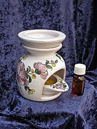 Brûle-parfum 3 pièces décor à la rose de samadet