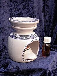 Brûle-parfum 3 pièces  camaieu bleu de samadet