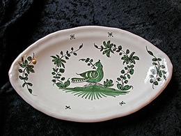 Petit plat ovale décor palombe