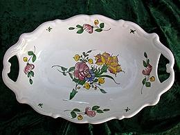 Corbeille à pain décor à la rose
