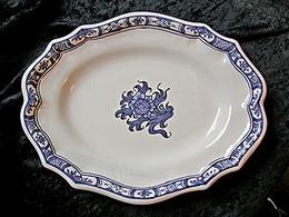 Plat ovale Samadet  T1 chardon bleu