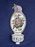 Bénitier à suspendre rose manganèse IHS